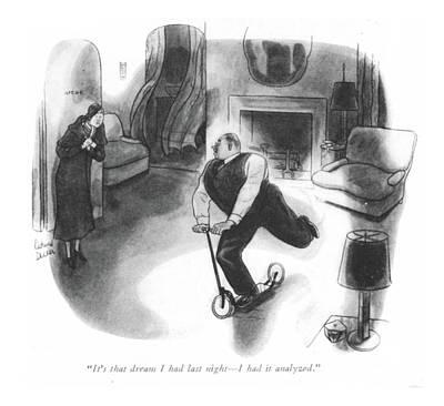 It's That Dream I Had Last Night - Art Print by Richard Decker