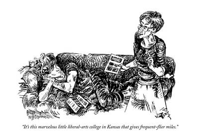 Leisure Drawing - It's This Marvelous Little Liberal-arts College by William Hamilton