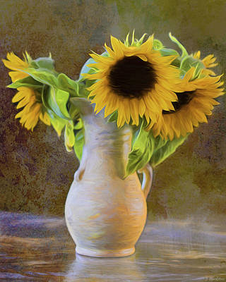 Digital Sunflower Painting - It's What Sunflowers Do - Flower Art by Jordan Blackstone