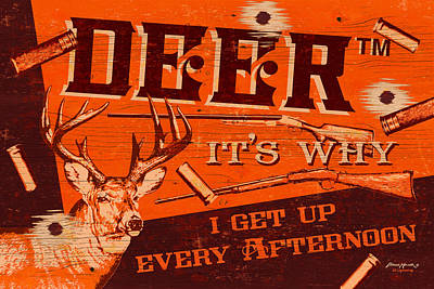 It's Why Deer Art Print