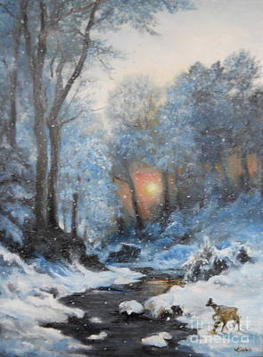 Painting - It's Winter by Sorin Apostolescu