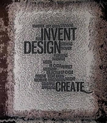 Its Written In Stone So Create Art Print by Lesa Fine