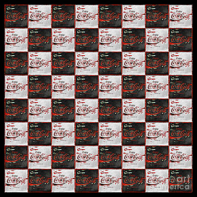 Coca-cola Sign Photograph - Its Your Move - Coca Cola Checkerboard by John Stephens