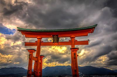 Floating Torii Photograph - Itsukushima Shrine by Gary Fossaceca