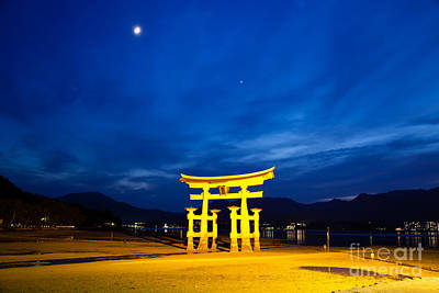 Miyajima Photograph - Itsukushima Shrine On Miyajima Island Japan by Fototrav Print