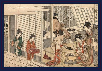 1753 Drawing - Itsuzuke No Satsuki, House Of Ichizuke. 1804 by Kitagawa, Utamaro (1753-1806), Japanese
