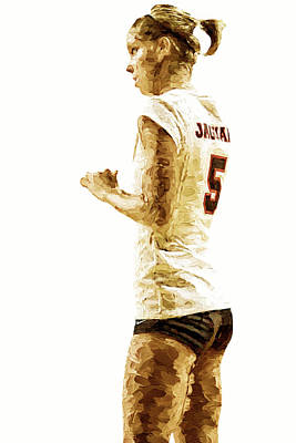 Photograph - Iupui Volleyball Athlete Dana Gardner Digitally Painted by David Haskett