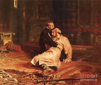 Rage Painting - Ivan The Terrible And Son by Pg Reproductions