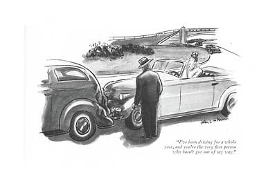 I've Been Driving For A Whole Year Art Print by Helen E. Hokinson