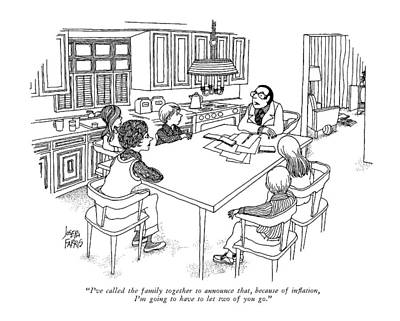 Young Money Drawing - I've Called The Family Together To Announce That by Joseph Farris