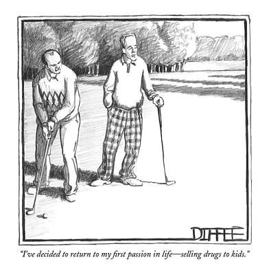 Conservative Drawing - I've Decided To Return To My First Passion by Matthew Diffee