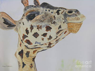 Giraffe Eyes Painting - I've Got An Eye On You by Peggy Dickerson