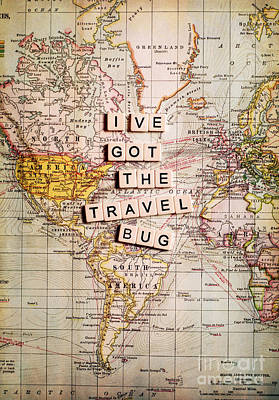 I've Got The Travel Bug Art Print by Sylvia Cook
