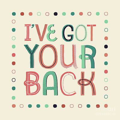 Back Digital Art - I've Got Your Back Throw Pillow by Natalie Kinnear