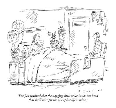 I've Just Realized That The Nagging Little Voice Art Print by Barbara Smaller