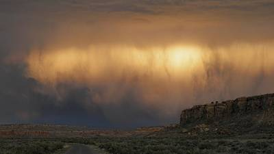 Chaco Culture Nhp Photograph - I've Seen It Raining Fire In The Sky by Feva  Fotos