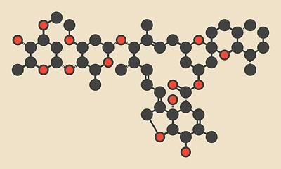 Ivermectin Antiparasitic Drug Molecule Art Print by Molekuul