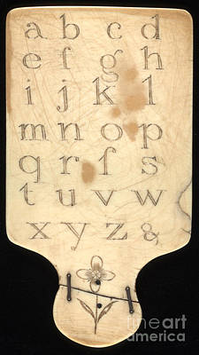 Alphabet Learning Digital Art - Ivory Alphabet Paddle With Daily Flower  by Pierpont Bay Archives