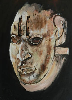 Painting - Ivory Benin Mask IIi by Amy Williams