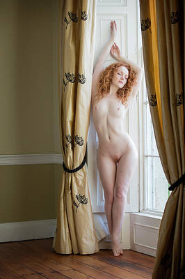 Nude Photograph - Ivory Drape by Ross Oscar