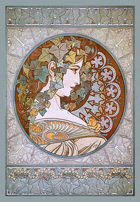 Painter Mixed Media - Ivy by Alfons Maria Mucha