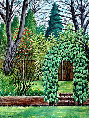 Ivy Painting - Ivy Garden Arch by Ronald Haber
