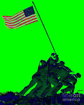 4th July Digital Art - Iwo Jima 20130210p180 by Wingsdomain Art and Photography