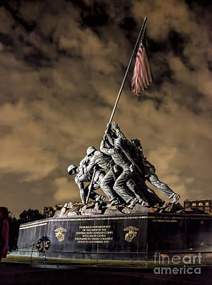 Photograph - Iwo Jima At Night by Shirley Mangini