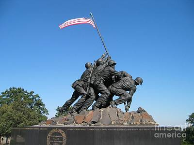 Photograph - Iwo Jima Flag Raising by Eva Kaufman