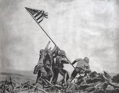 Iwo Jima Drawing - Iwo Jima by Jessica Hallberg