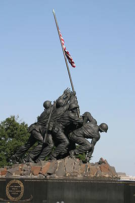 Corps Photograph - Iwo Jima Memorial - 12121 by DC Photographer
