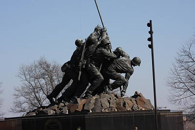Corps Photograph - Iwo Jima Memorial - 12122 by DC Photographer