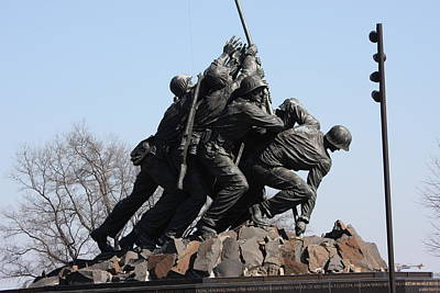 Corps Photograph - Iwo Jima Memorial - 12123 by DC Photographer