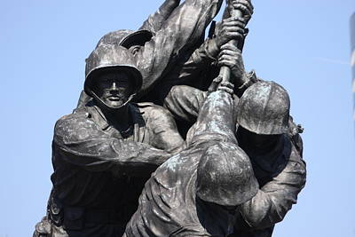 Corps Photograph - Iwo Jima Memorial - 12124 by DC Photographer