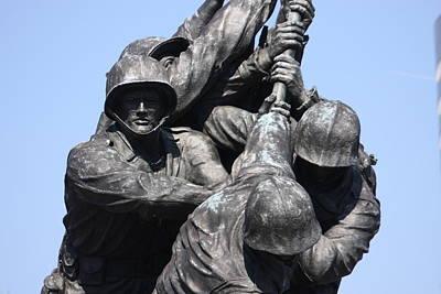 Raising Photograph - Iwo Jima Memorial - 12124 by DC Photographer