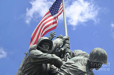 Photograph - Iwo Jima Memorial by Allen Beatty