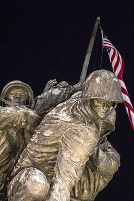 Photograph - Iwo Jima Memorial Dc From Below by John McGraw