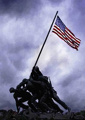 Painting - Iwo Jima Memorial  by Bob and Nadine Johnston
