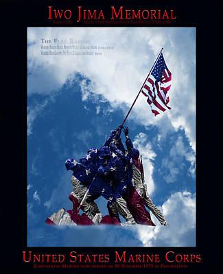 Raiser Digital Art - Iwo Jima Memorial by Robert J Sadler