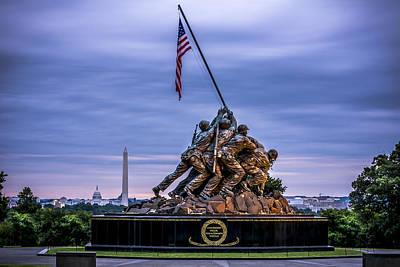 Landmarks Royalty Free Images - Iwo Jima Monument Royalty-Free Image by David Morefield