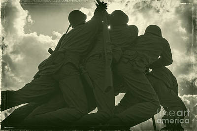 Photograph - Iwo Jima Monument In Silhouette by Imagery by Charly