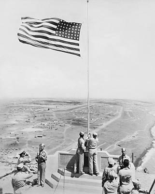 Iwo Jima Photograph - Iwo Jima Moument by Underwood Archives