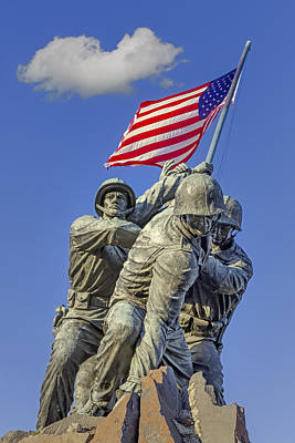 Washington Monument Photograph - Iwo Jima United States Marine Corps by Susan Candelario