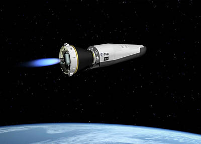 Space Flight Photograph - Ixv Re-entry Vehicle by Esa-j.huart