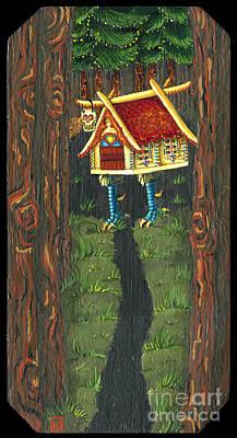Baba Painting - Izbushka Strolling In  Pines by N Larson