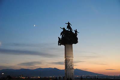 Izmir War Monument On Kordon Art Print by Jacqueline M Lewis