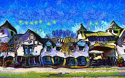 Izod Building In Downtown Solvang California Art Print by Barbara Snyder