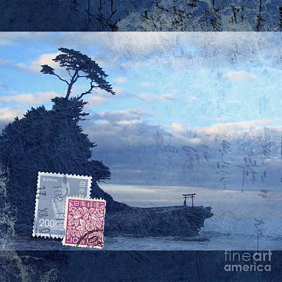 Seascape Mixed Media - Izu by Delphimages Photo Creations