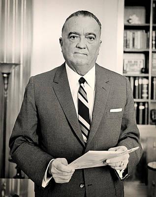 J Edgar Hoover 1961 Art Print by Mountain Dreams