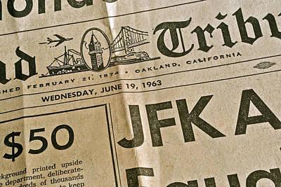 Photograph - J F K Remembrance by Bill Owen